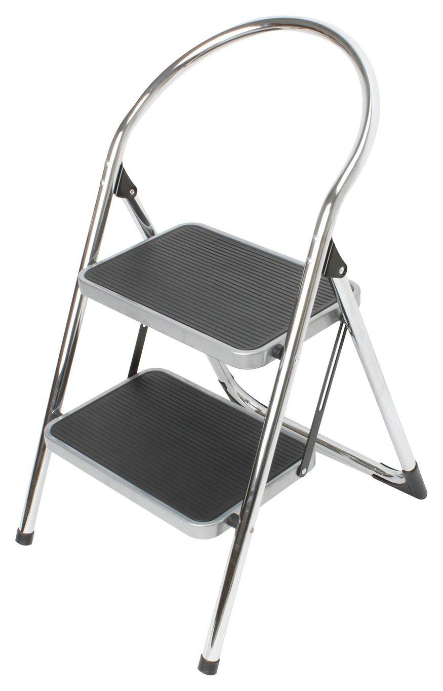 Argos - 2 Step Chrome Stepstool