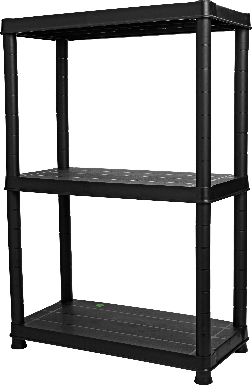3 tier plastic shelving unit