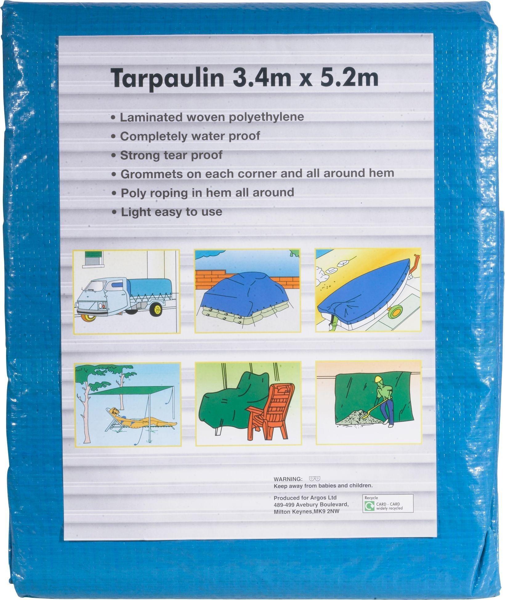 3.4m x 5.2m Tarpaulin