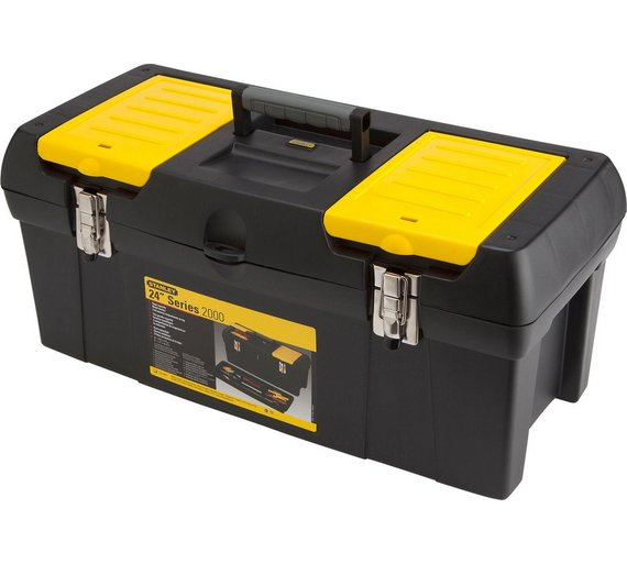 new stanley 24 inch tool box with tote tray box from stanley is