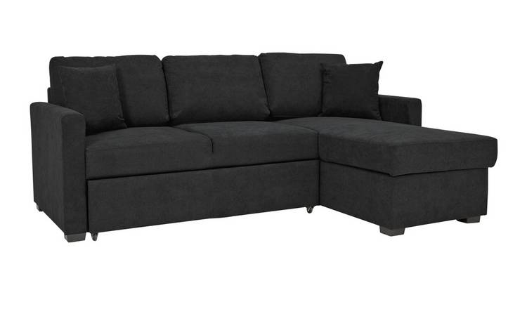 Buy Argos Home Reagan Right Corner Fabric Sofa Bed - Charcoal | Sofa beds |  Argos