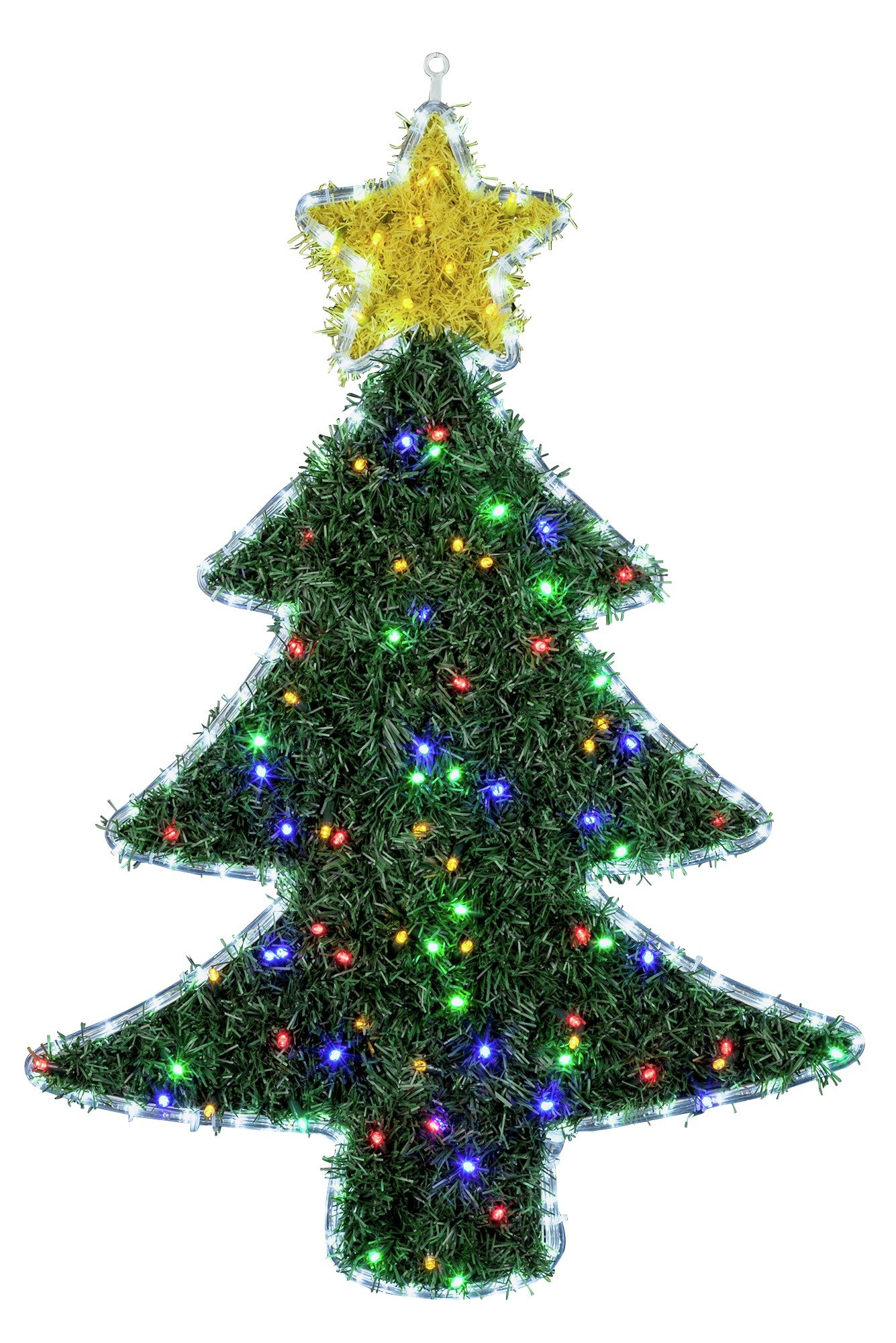 Collection - Christmas Tree - Hanging Ornament with Lights