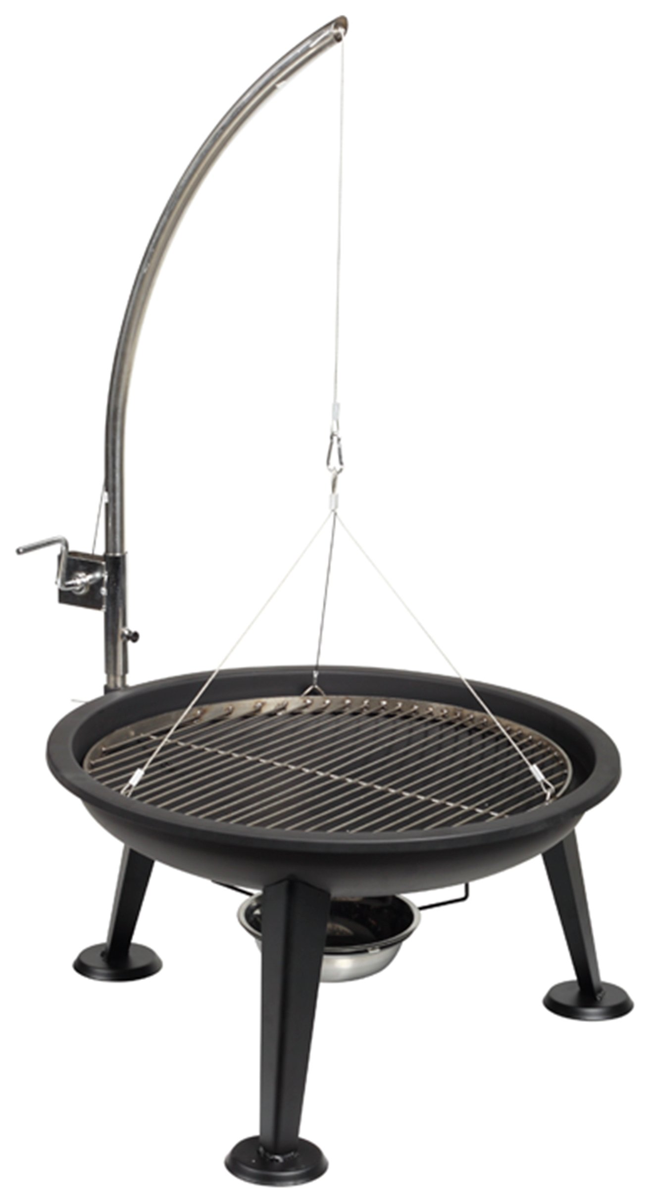 Firefriend Stainless Steel Charcoal BBQ Fire Pit