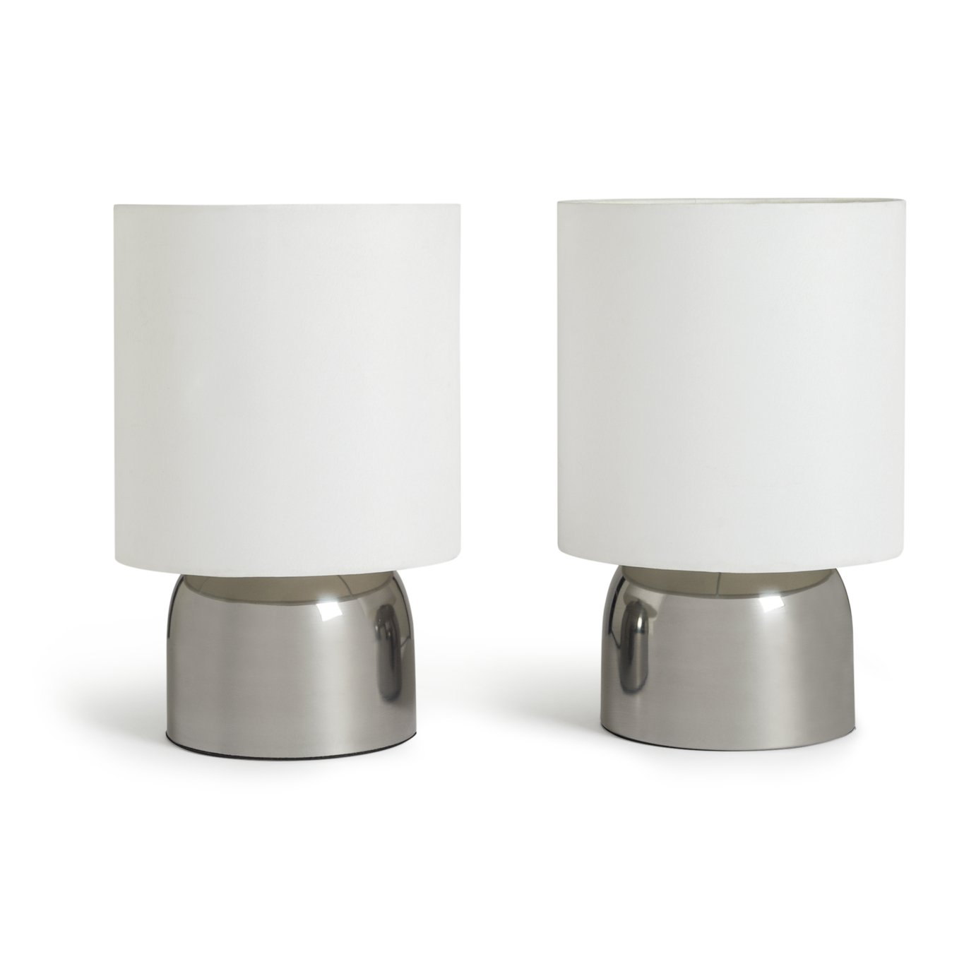 Argos Home Pair of Touch Table Lamps - Super White