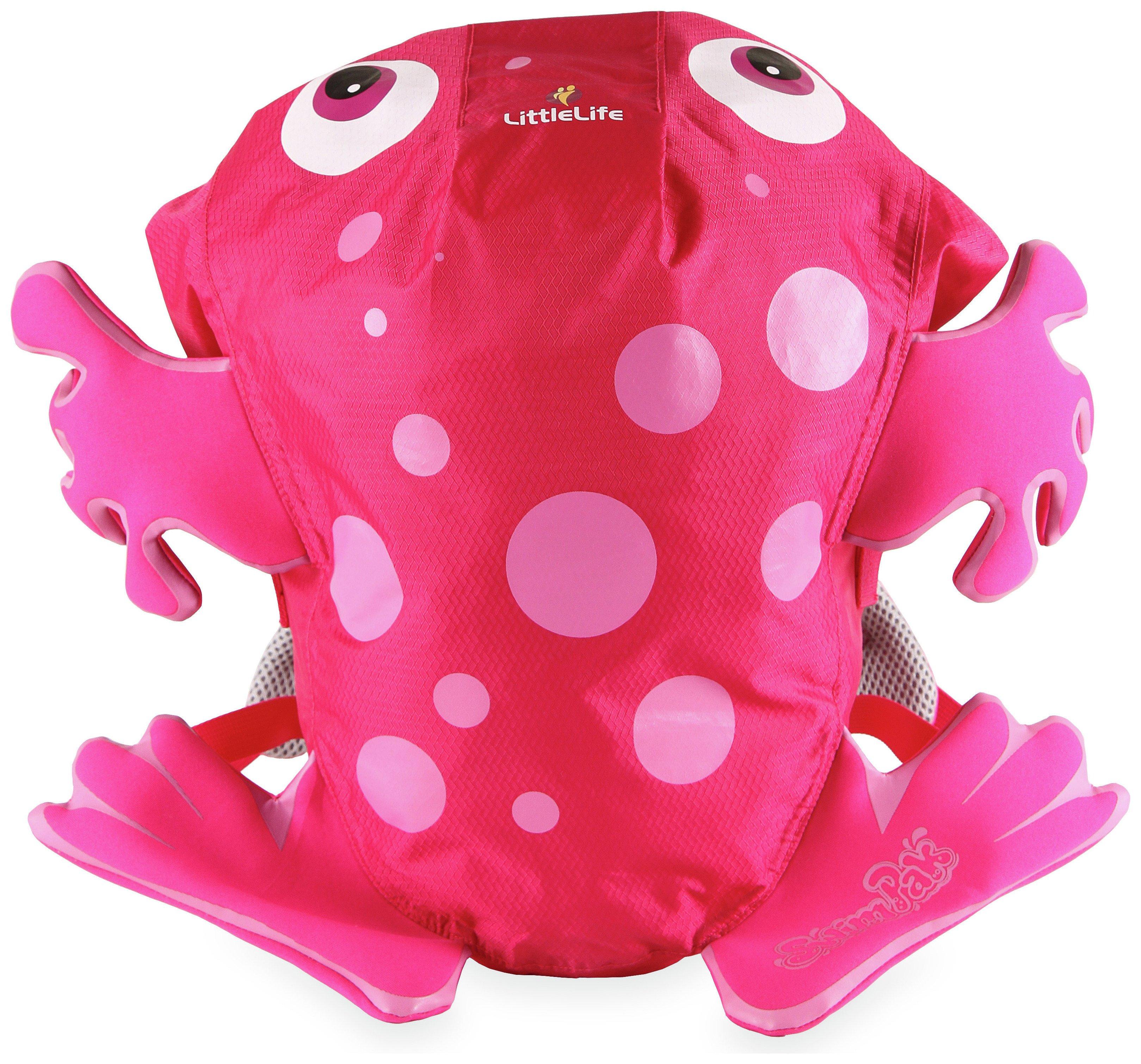 LittleLife Animal Frog 10L Kids Swimpak Backpack - Pink