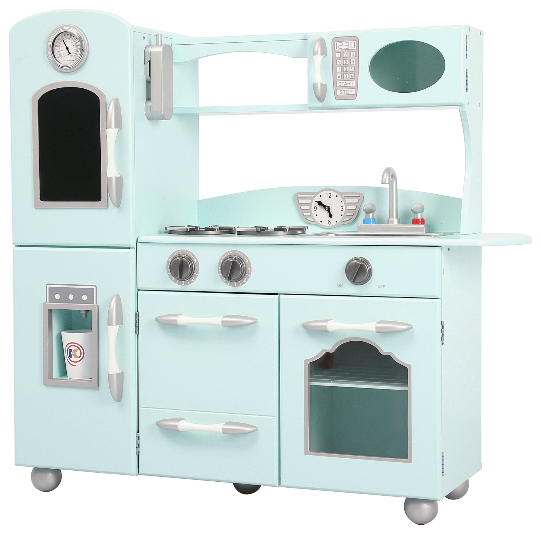 Teamson Kids Classic Play Kitchen - Mint.