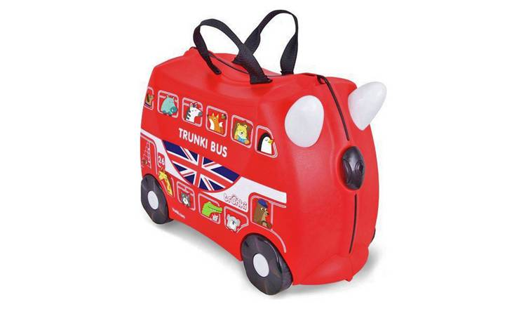 Trunki Boris the Bus 4 Wheel Hard Ride On Suitcase - Red