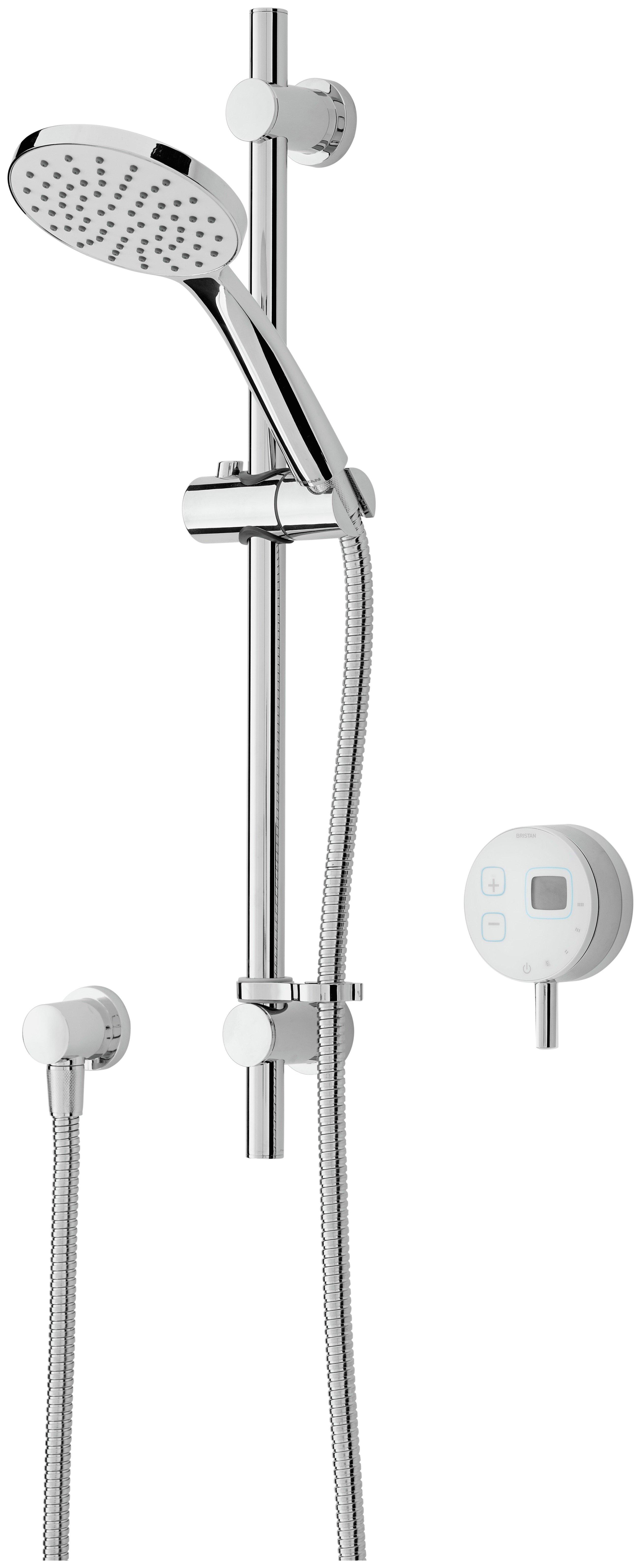 Image of Bristan Artisan Evo Digital Electronic Shower & Riser White