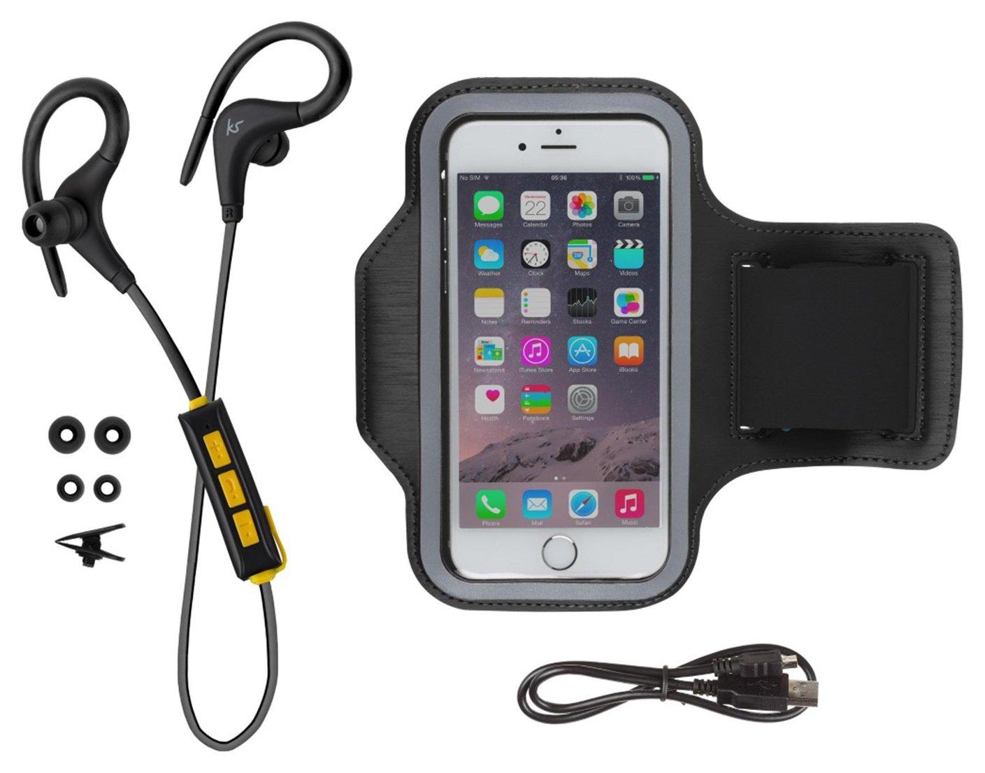KitSound Race Wireless In-Ear Sports Headphones - Black