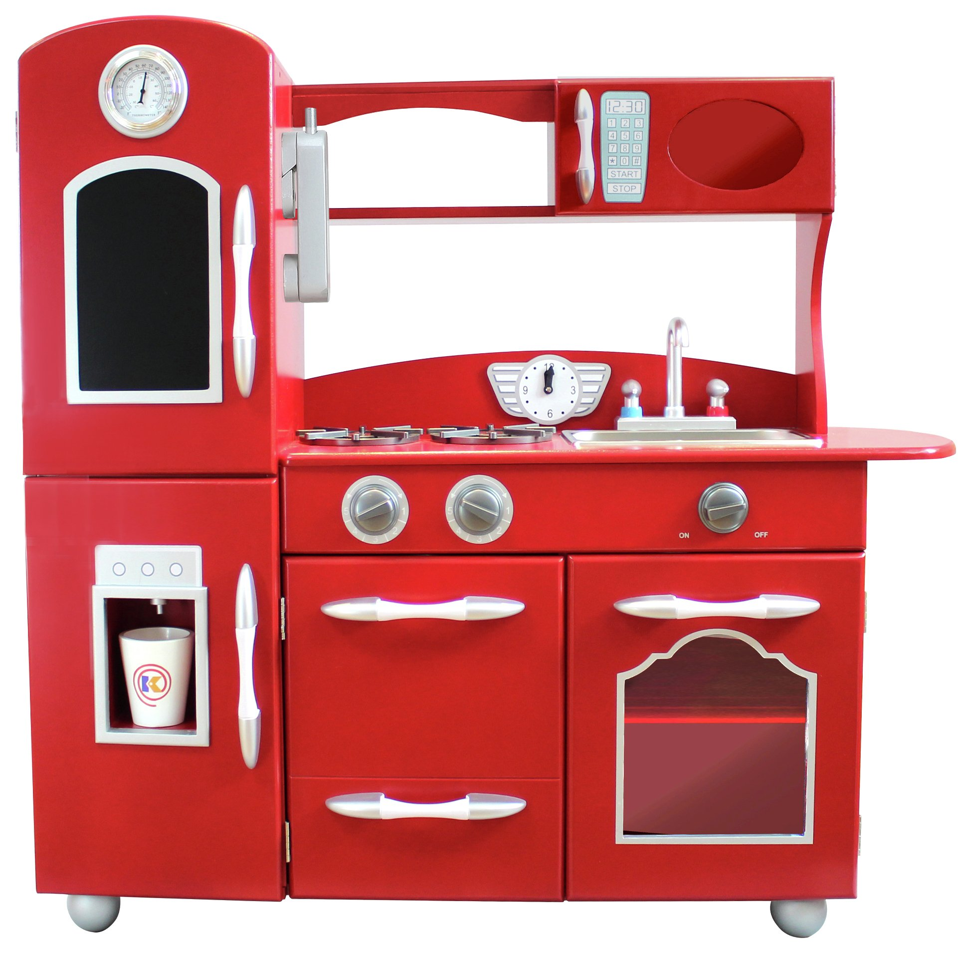 Teamson Kids Classic Play Kitchen - Red.