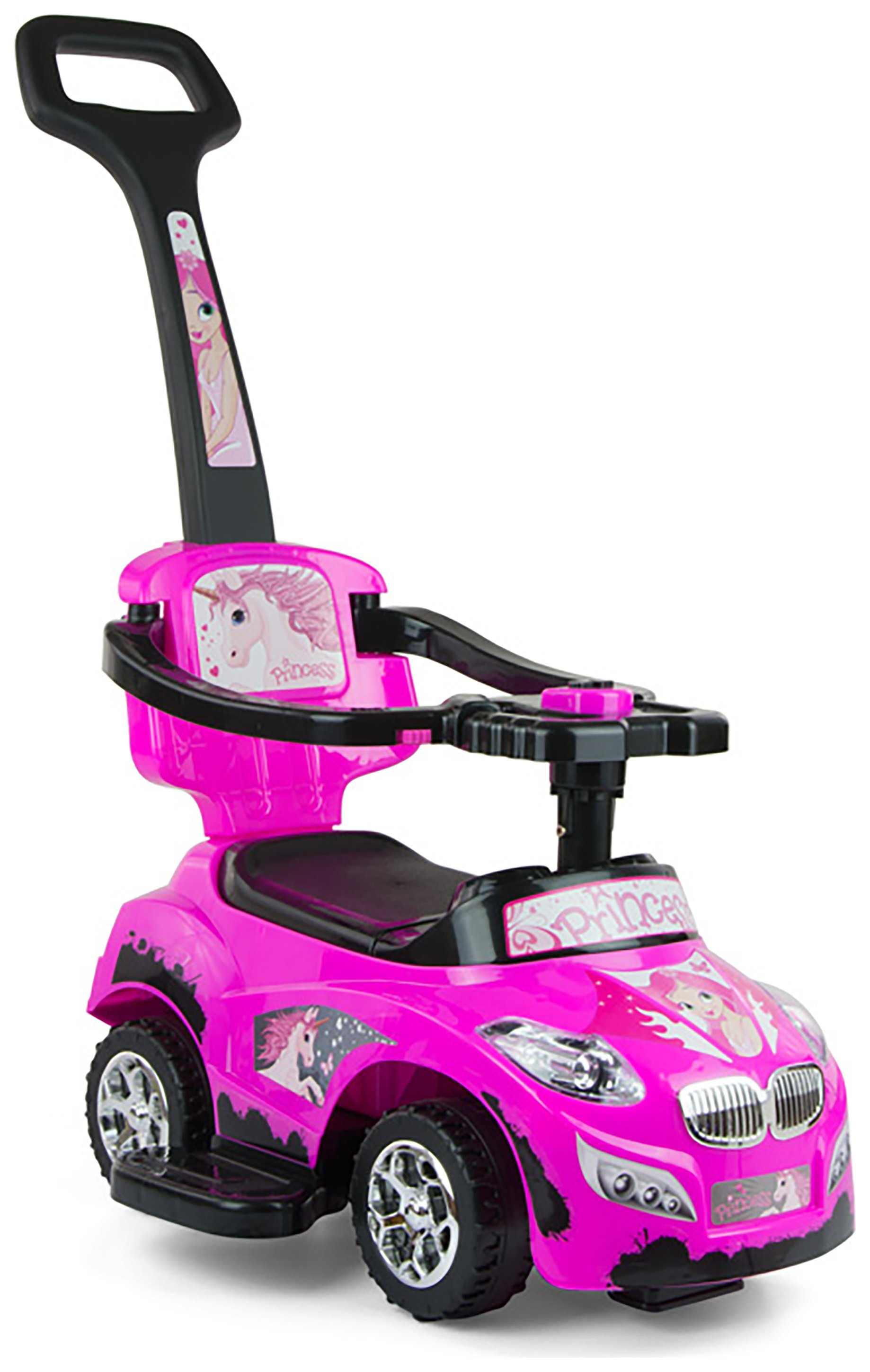 Milly Mally Happy 3-in-1 Ride On - Pink.