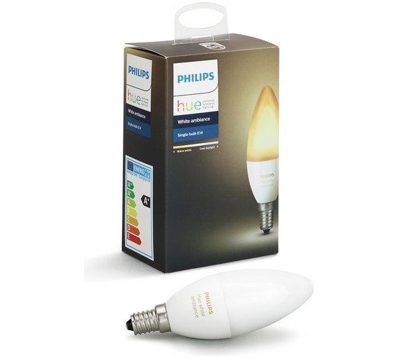 Philips Hue Lampen E14.Buy Philips Hue White Ambience E14 Candle Lamp Smart Lighting