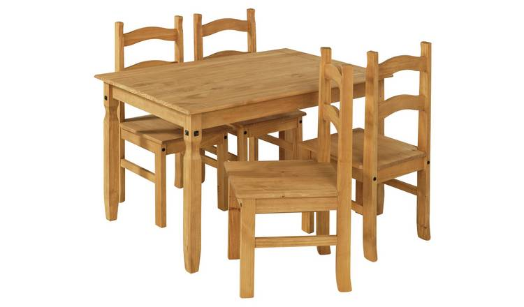Argos Home San Diego Solid Wood Table 4 Chairs