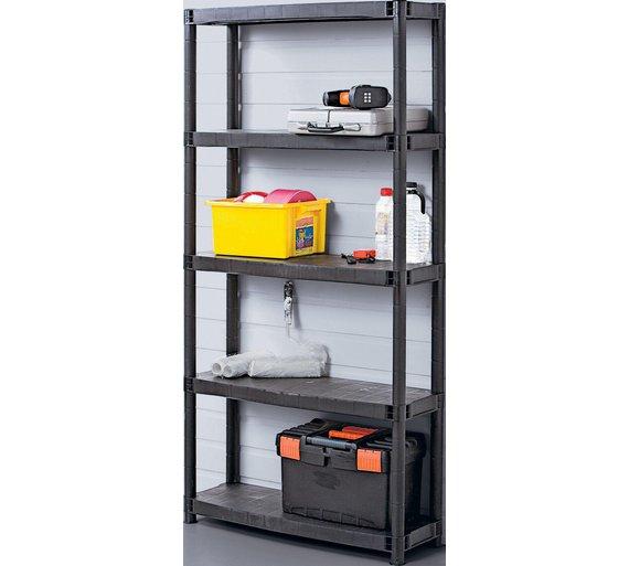 buy 5 tier universal shelving unit at your. Black Bedroom Furniture Sets. Home Design Ideas