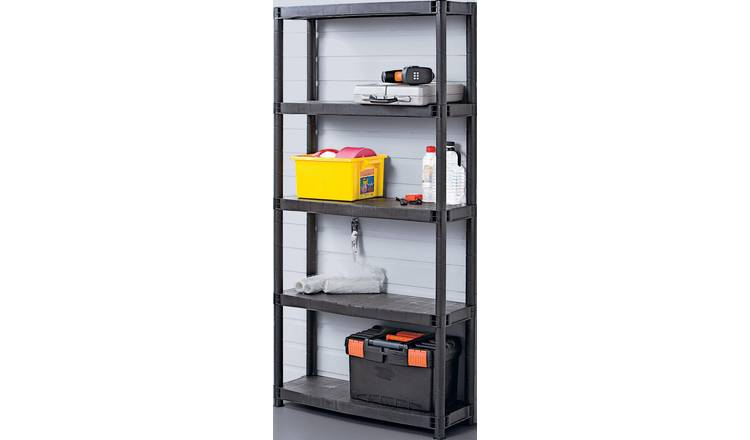 5 Tier Plastic Shelving Unit