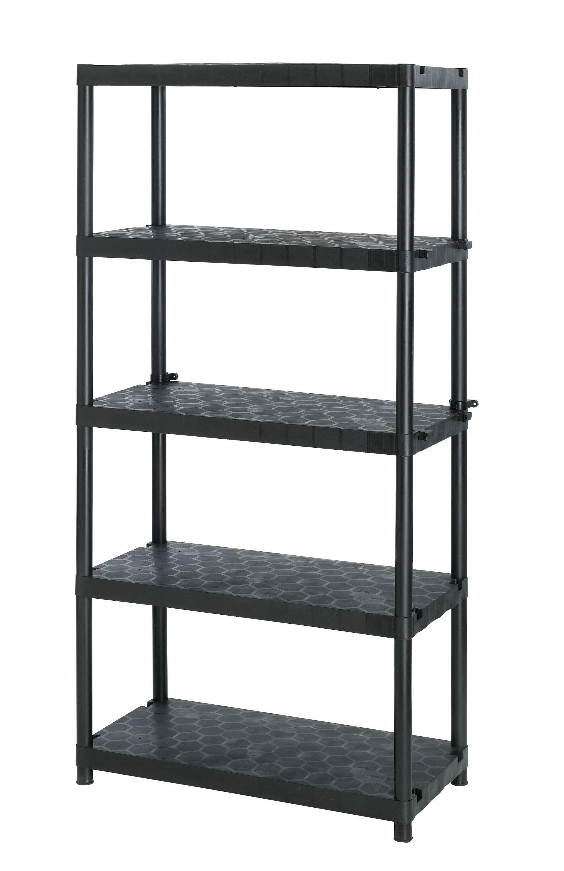 Extra heavy duty 5 tier plastic garage shelving storage unit