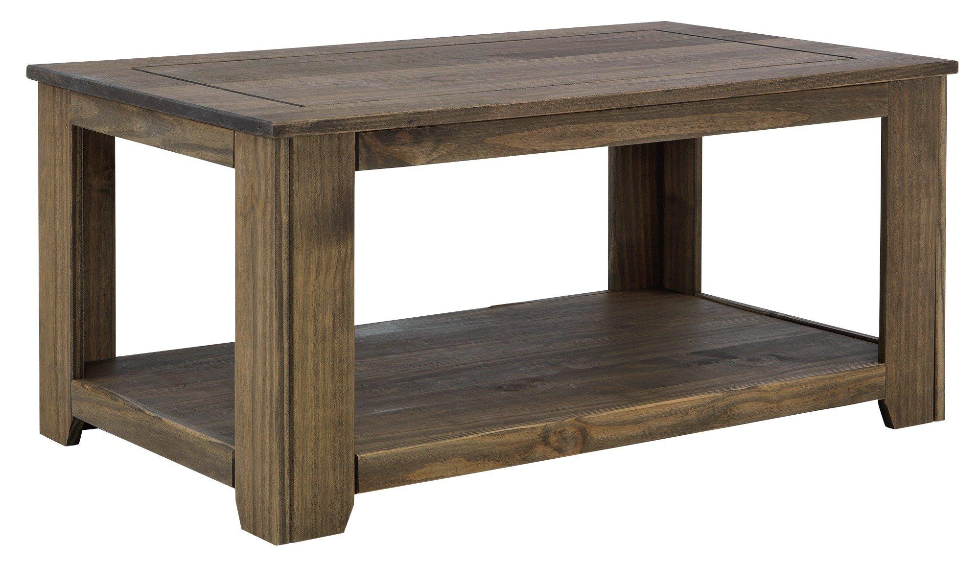 Argos Home Amersham Solid Wood Coffee Table - Dark Pine