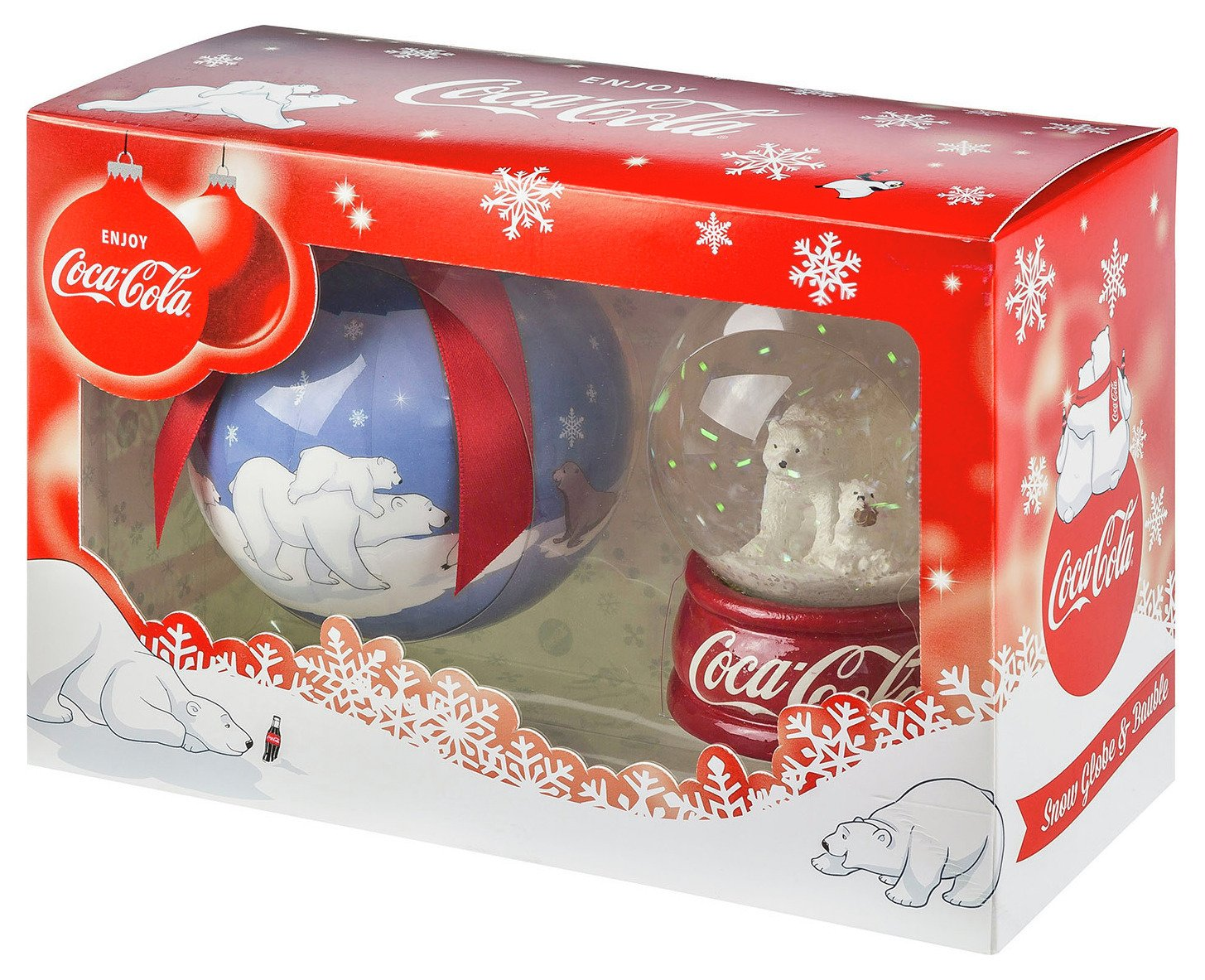 Image of Coca-Cola Snow Globe and Bauble