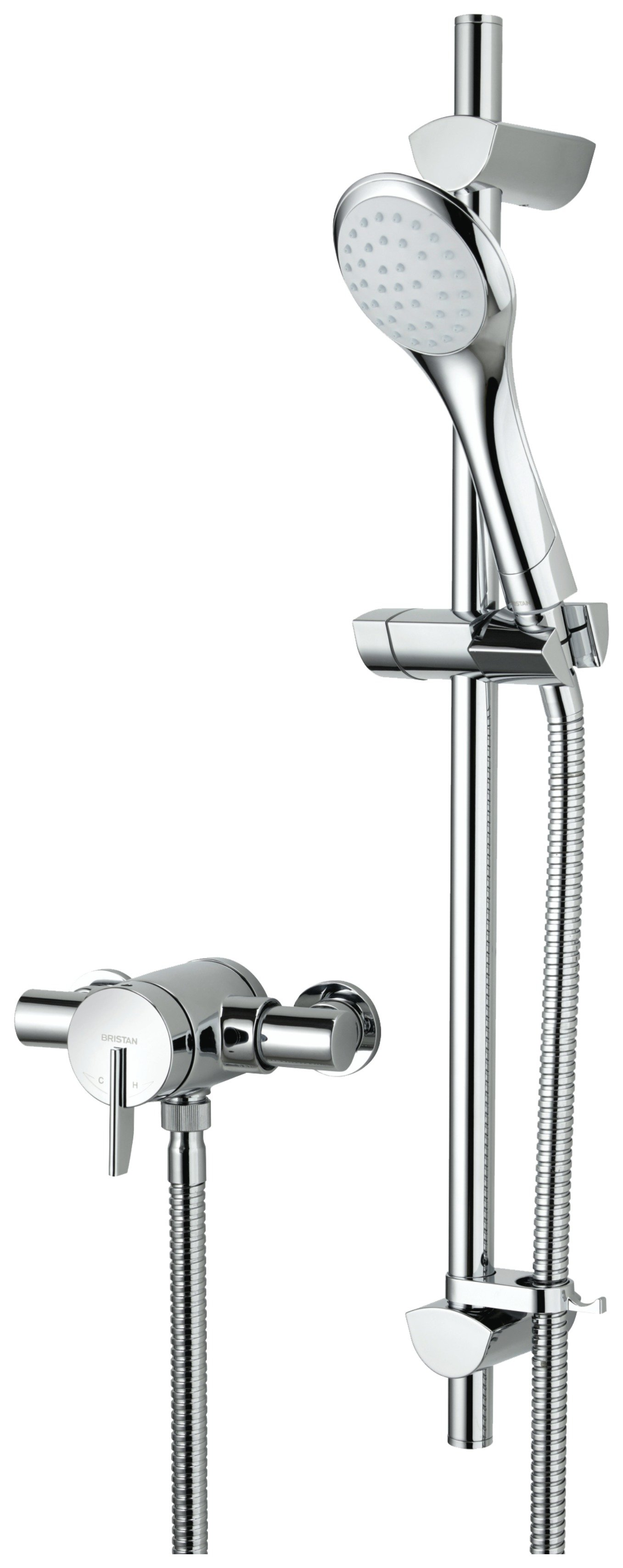 Bristan Sonique Chrome Thermostatic Sequential Mixer Shower