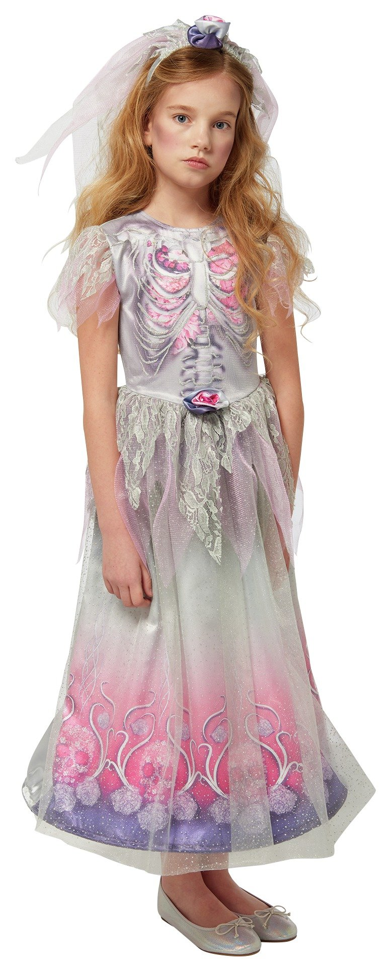 gothic bride and veil fancy dress costume  910 years