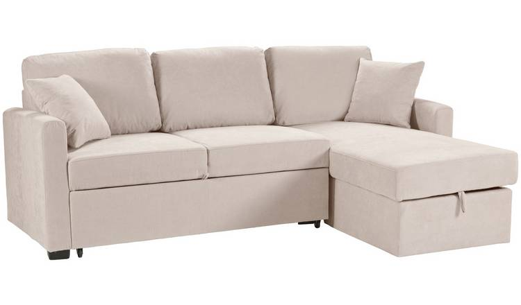 Habitat Reagan Right Corner Fabric Sofa Bed - Natural