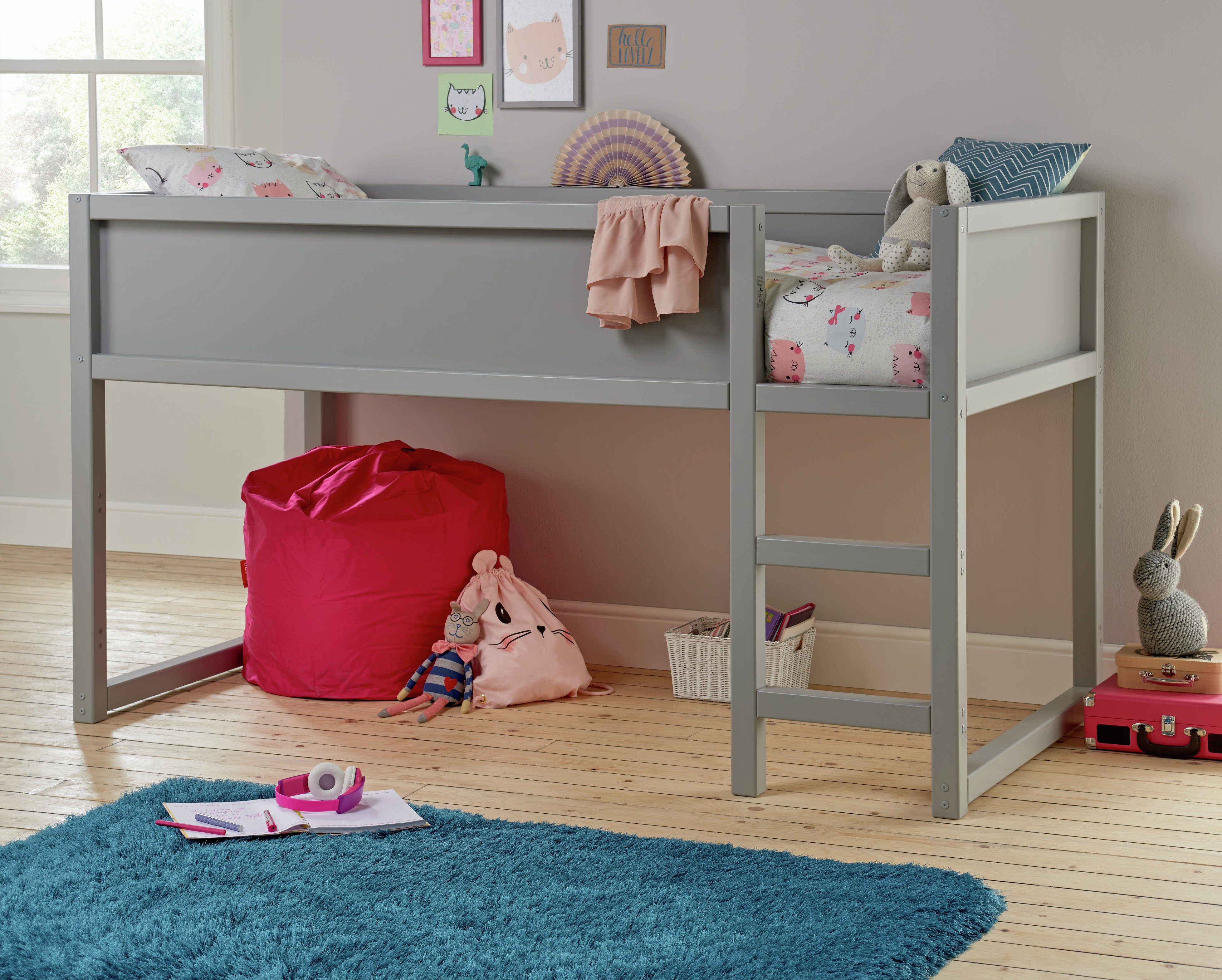 Collection Tokyo Heavy Duty Midsleeper Bed - Grey