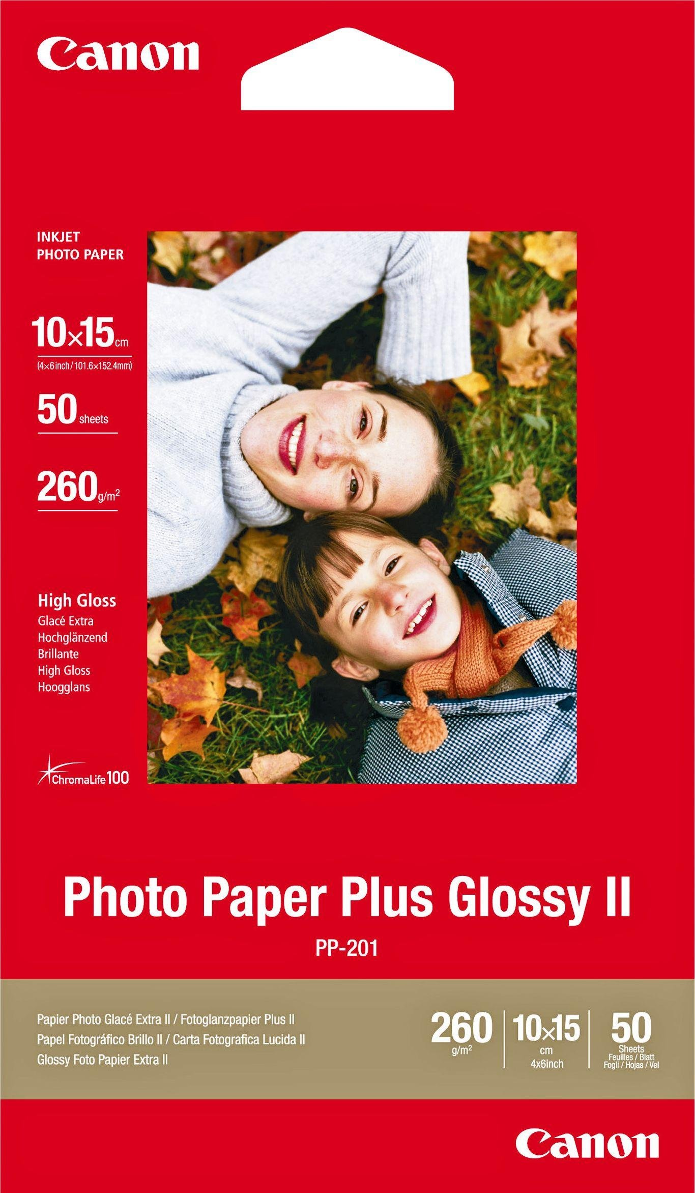 Canon Glossy 6 x 4 Inch Photo Paper - 50 Sheets