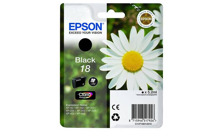 Epson T1801 Daisy Ink Cartridge - Black