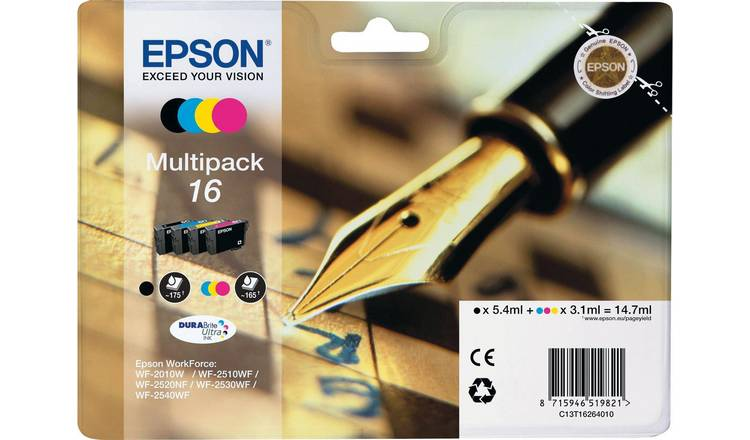 Epson 16 Pen Ink Cartridges - Black & Colour