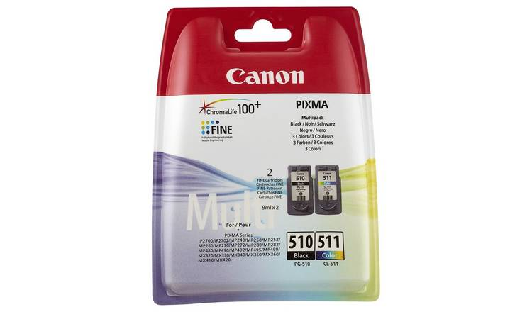 Canon PG-510 & CL-511 Ink Cartridges - Black & Colour