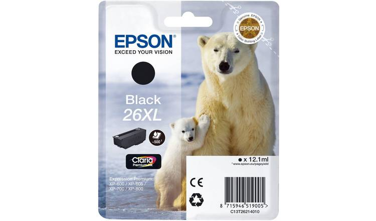 Epson 26XL Polar Bear Ink Cartridge - Black