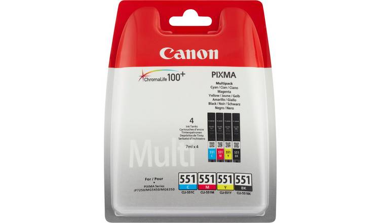 Canon CLI-551 Ink Cartridges - Black & Colour