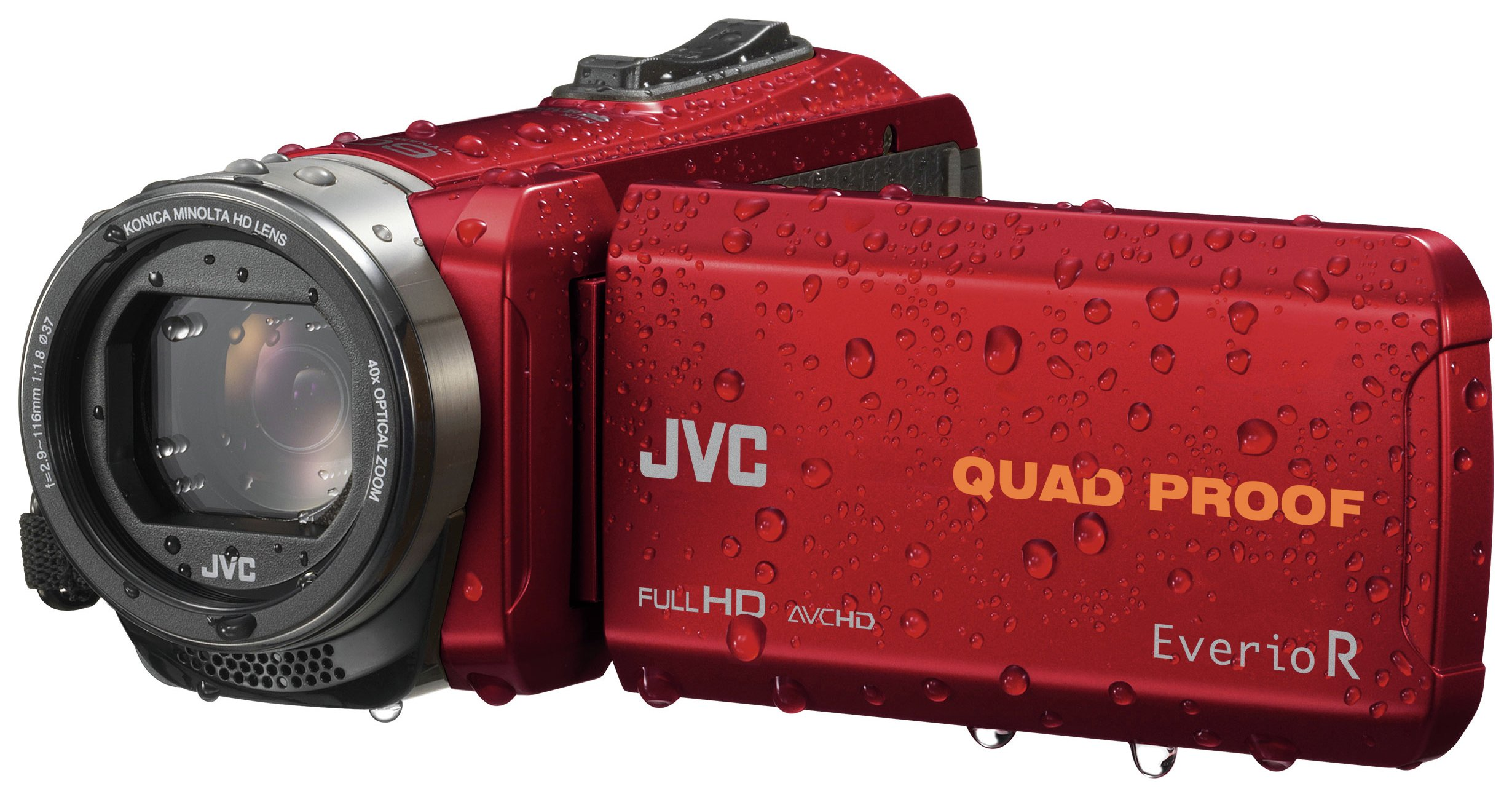 JVC GZ-R435 Full HD Camcorder - Red.