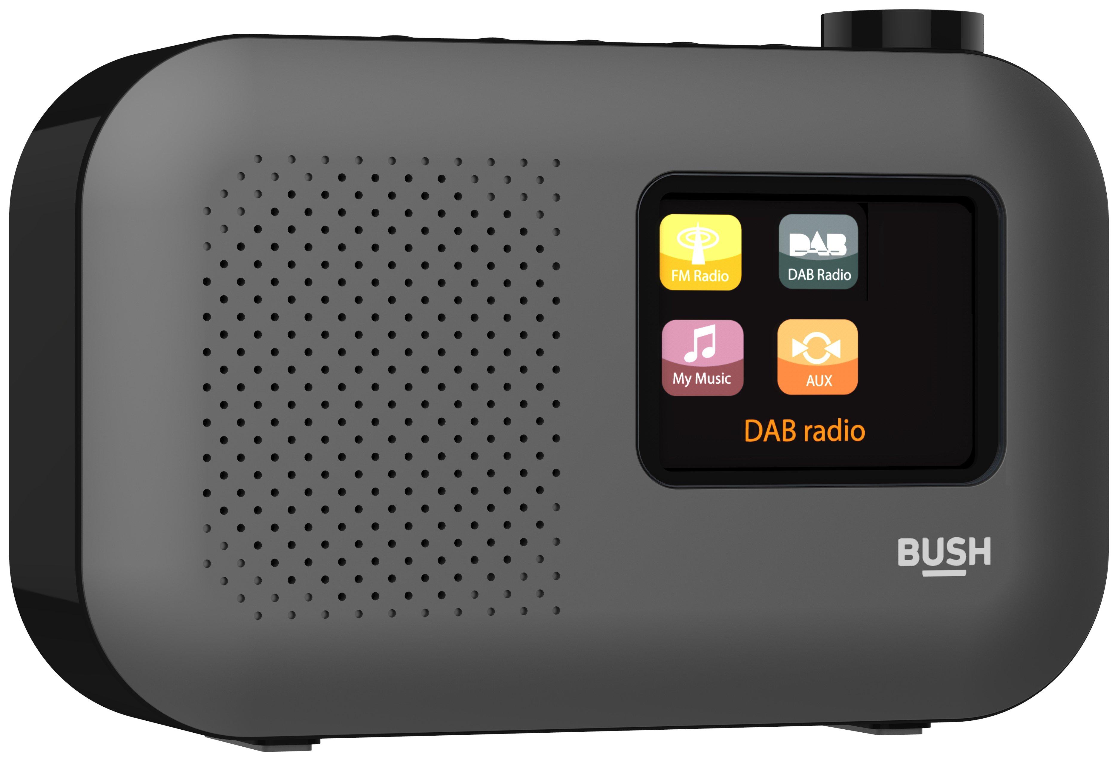 'Bush Colour Screen Dab Radio - Black