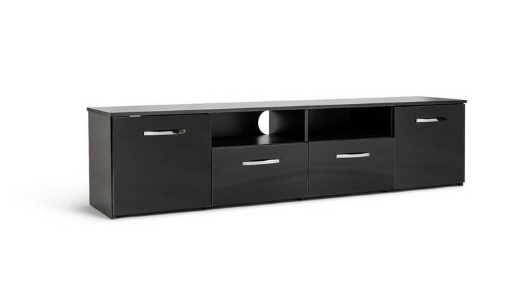 Habitat Hayward 2 Door TV Unit - Black Gloss