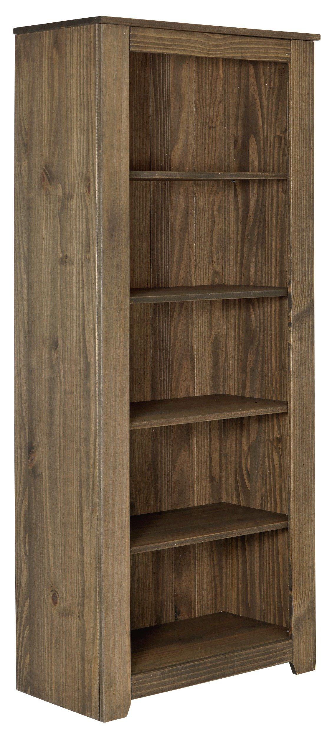 Argos Home Amersham Solid Wood Bookcase - Dark Pine