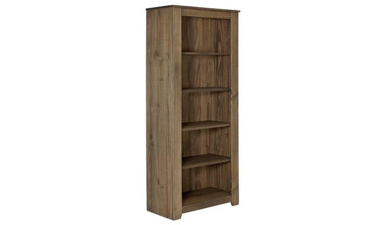 Argos Home Amersham Solid Wood Bookcase Dark Pine
