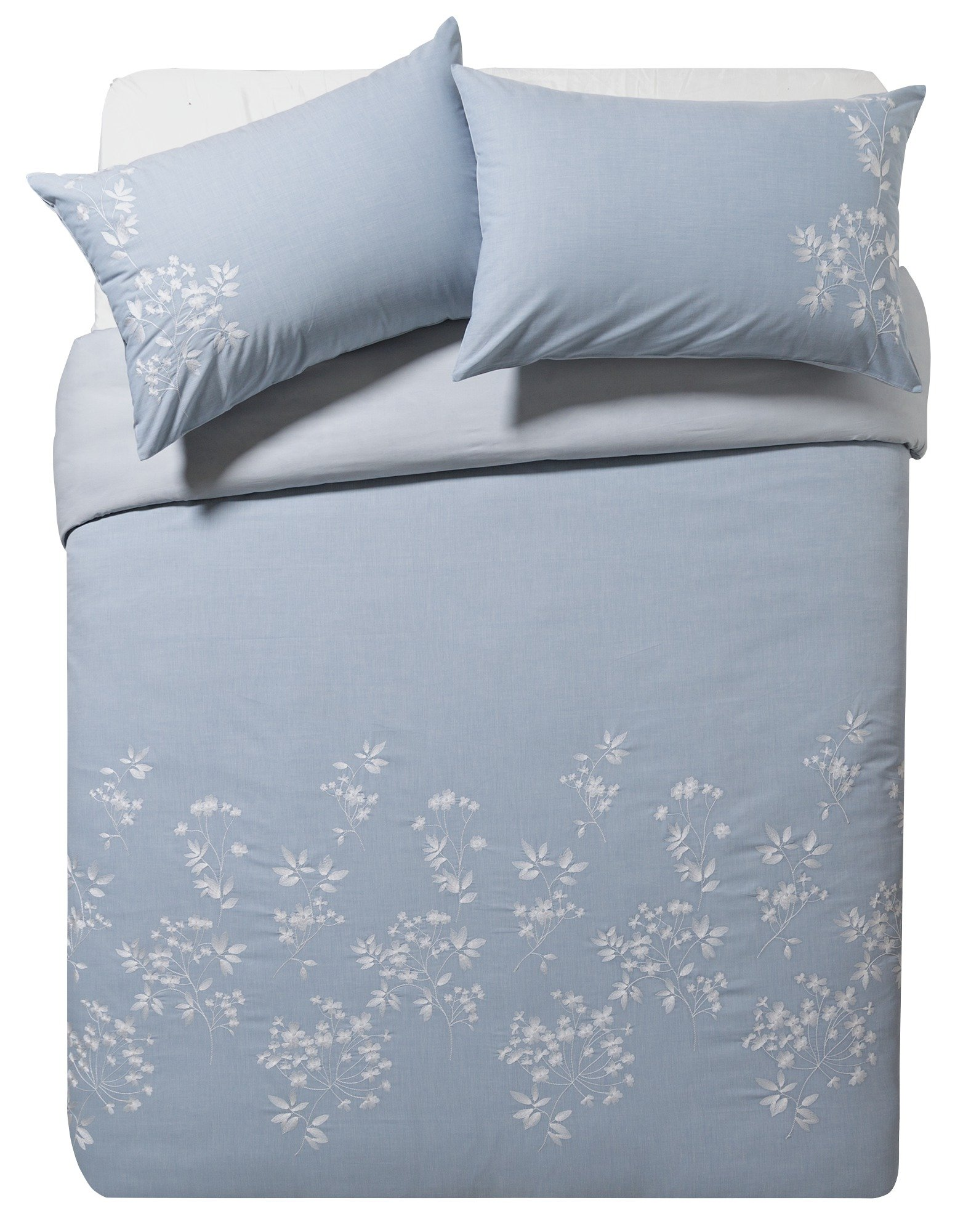 Heart of House Virginia Embroidered Bedding Set - Superking.