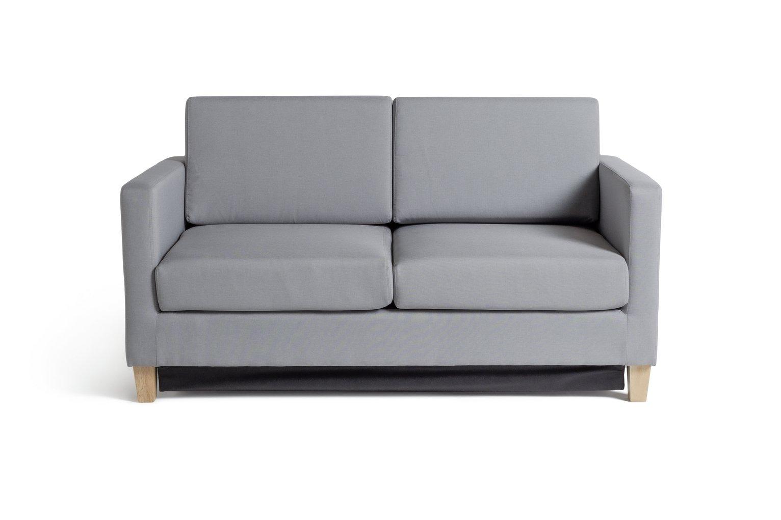 Argos Home Rosie 2 Seater Fabric Sofa Bed - Light Grey