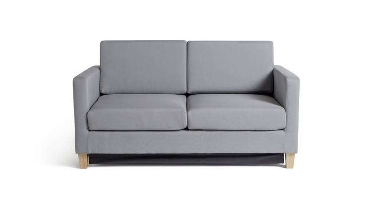 Habitat Rosie 2 Seater Fabric Sofa Bed - Light Grey