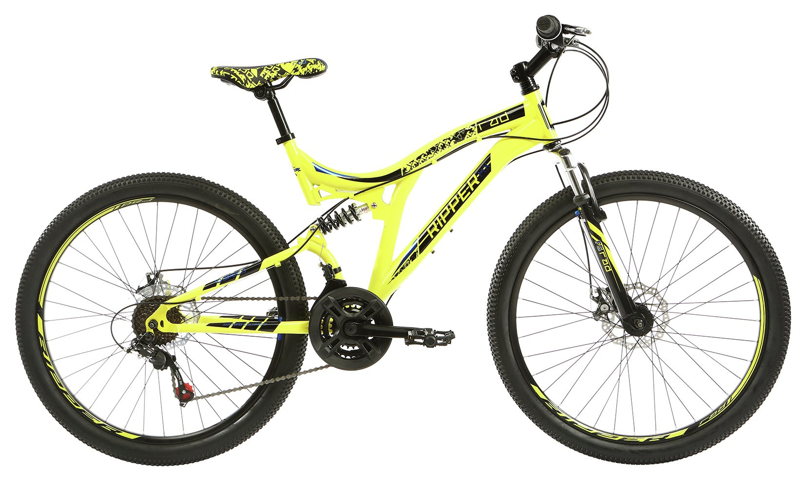 RAD Ripper MX 18 Inch Yellow Mountain Bike