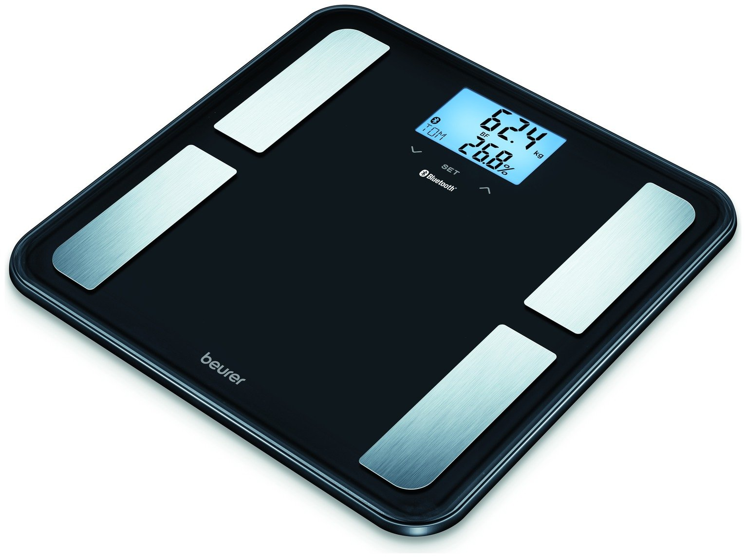 Image of Beurer BF850 Diagnostic Glass Body Analyser Scale - Black