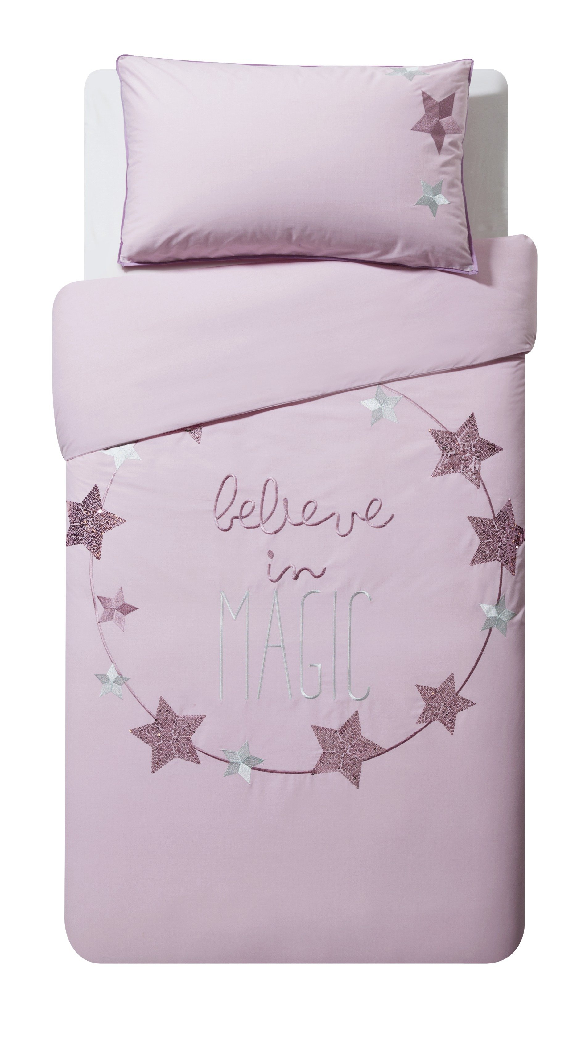 Argos Home Believe Cotton Rich Bedding Set - Toddler