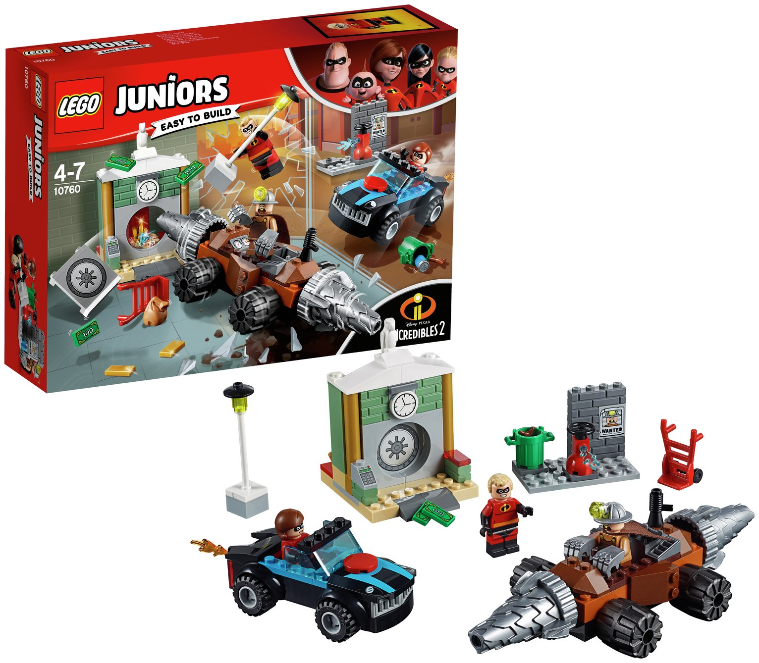 LEGO Juniors Incredibles 2 Underminer Bank Heist - 10760
