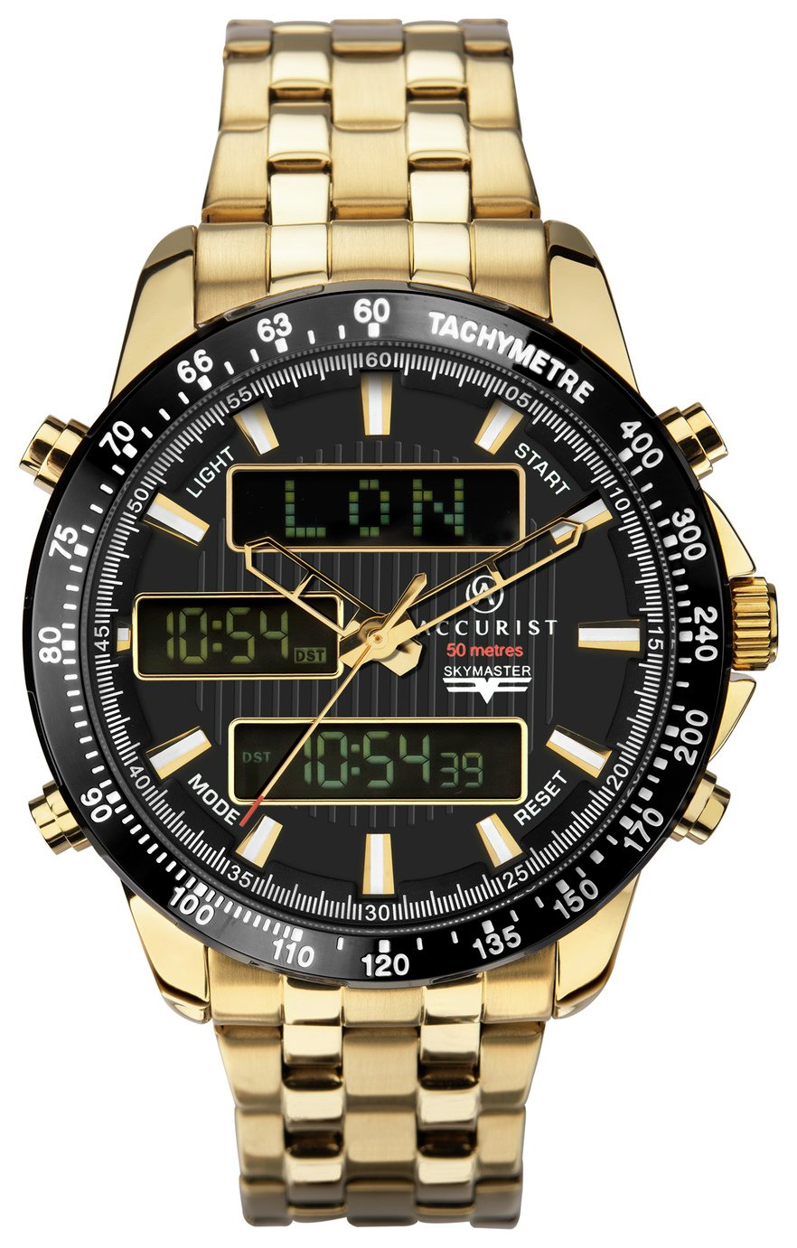 Accurist Men's Gold Stainless Steel Chronograph Watch