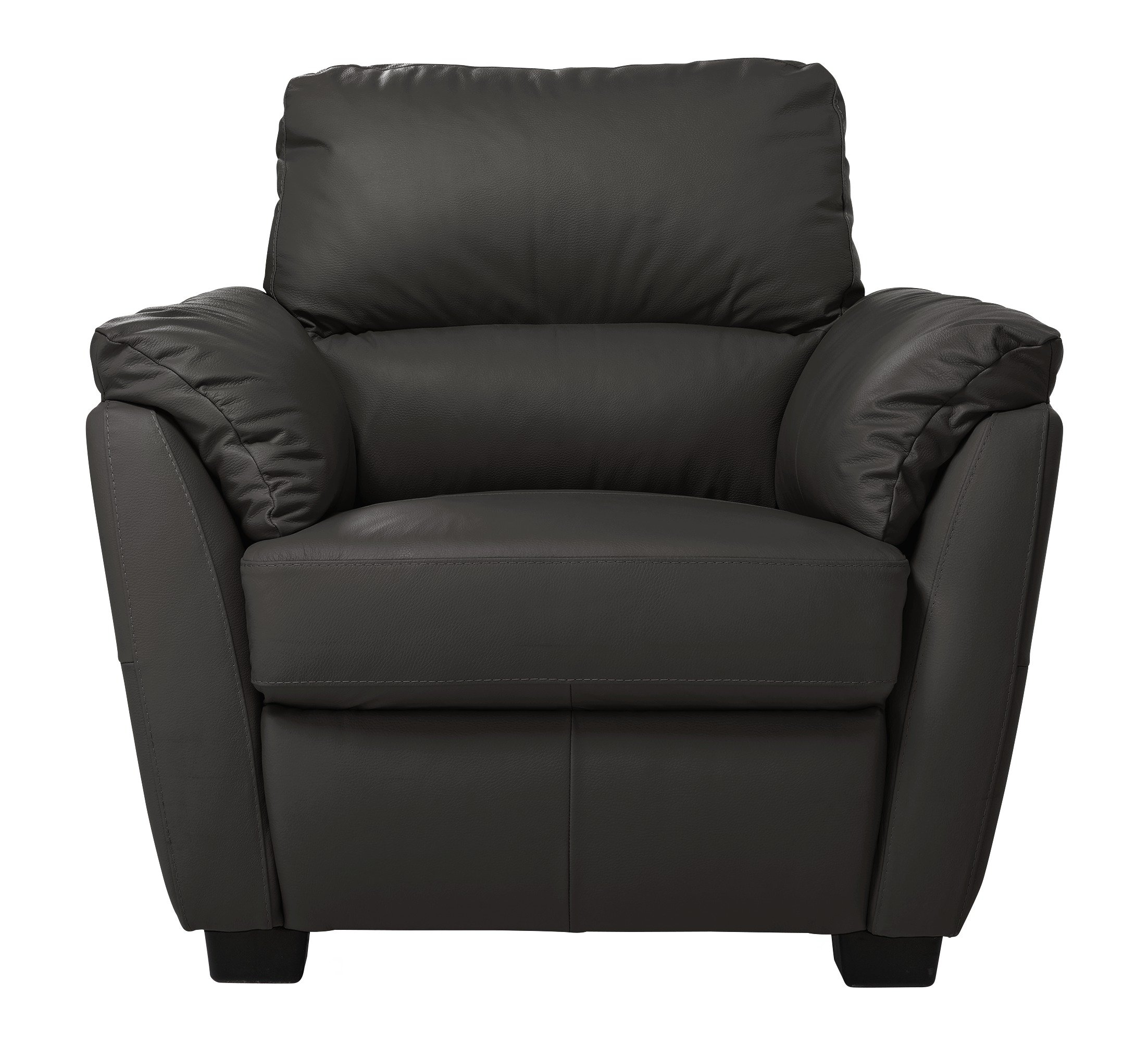 Argos Home Trieste Leather Armchair - Black