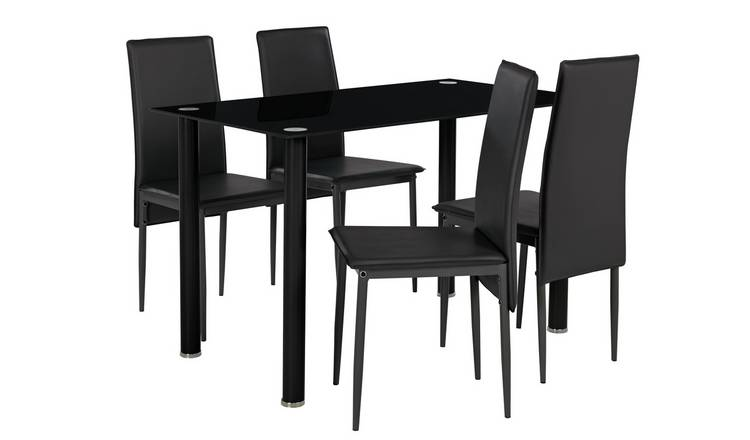 Buy Argos Home Flynn Round Leg Glass Table Amp 4 Chairs