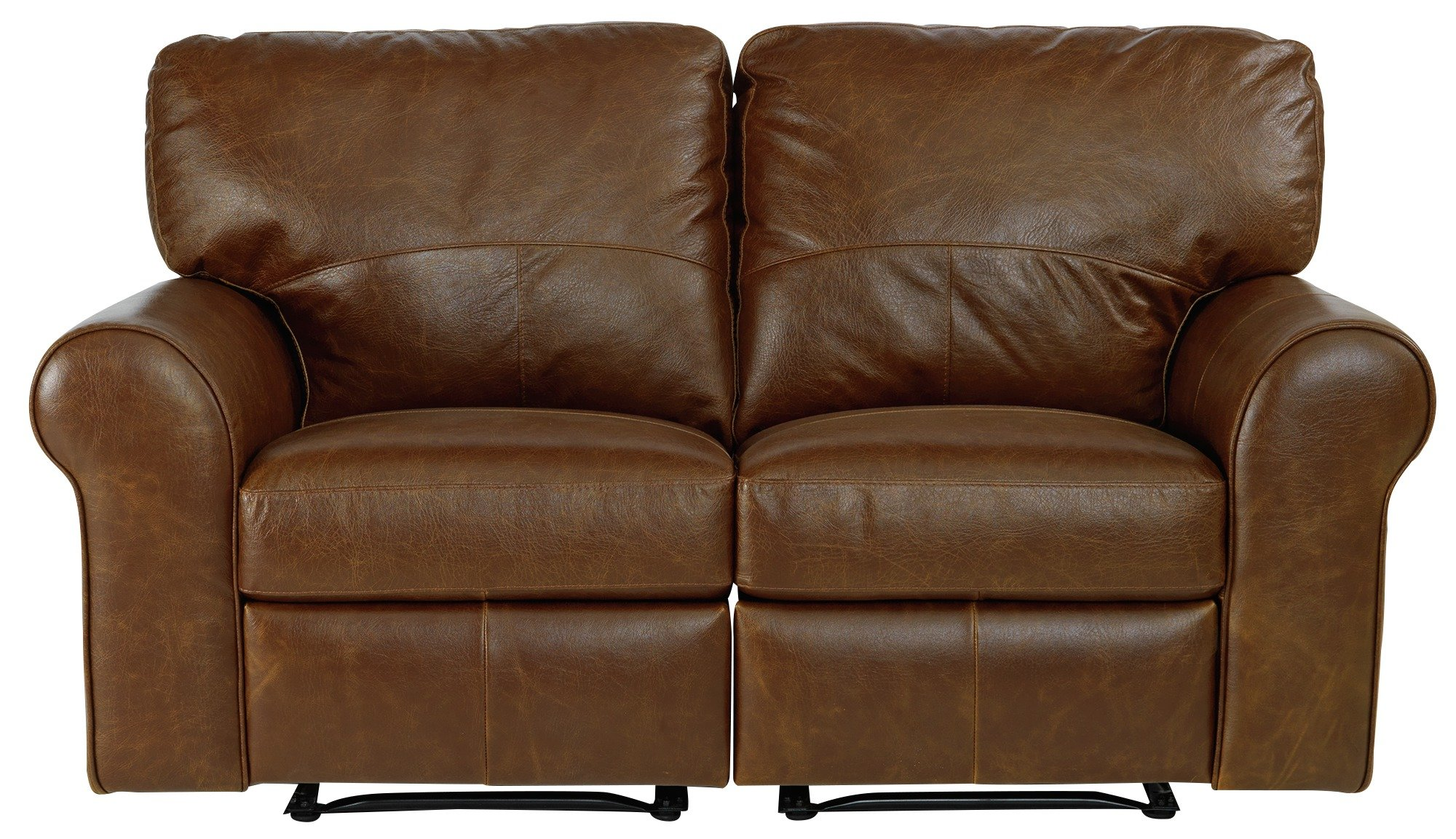 Buy Argos Home Salisbury 2 Seater Leather Recliner Sofa Tan