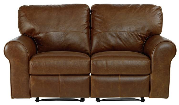 Buy Argos Home Salisbury 2 Seater Leather Recliner Sofa - Tan ...