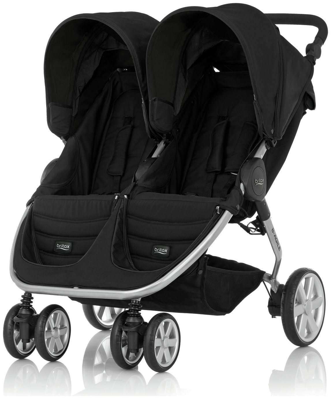 Image of Britax Romer B-AGILE DOUBLE Pushchair ??? Cosmos Black